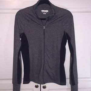 Forever 21 gray spandex athletic jacket